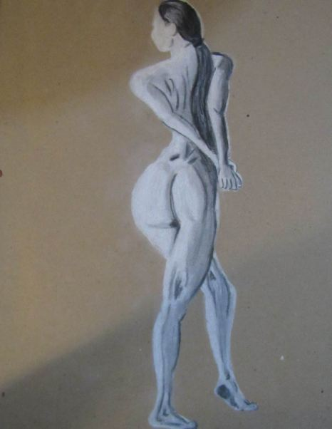 ilustración lápiz de creta blanca