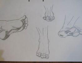 ilustración pies